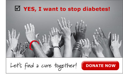 Let's find a cure together - donate now
