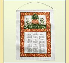 Pineapple Linen Calendar
