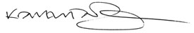 Karen Talmadge Signature