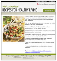 Recipes for Healthy Living eCard