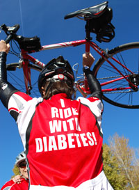 Ride with Diabetes Back Jersey Image