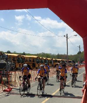 Crossing the finish line 2015 with my NSC teammates!